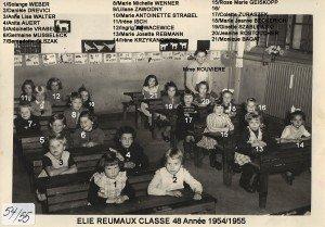 1954_55 - CP Mme ROUVIERE nées en 48 copie