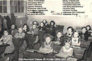 cl45 annee 1954-1955 Mme BESLE le 16.11
