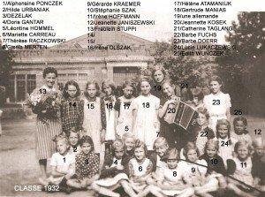 classe 1932 filles copie
