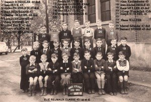 classe 43 année 1951-1952-Noms