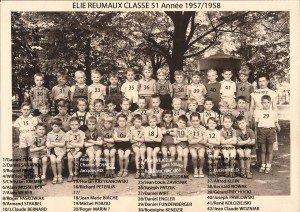 classe 51 année 1957-1958 copie