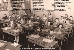 classe 54 année 1963-1964 copie