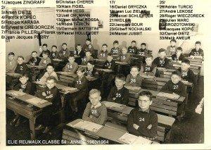 classe 54 année 63 - 64 copie