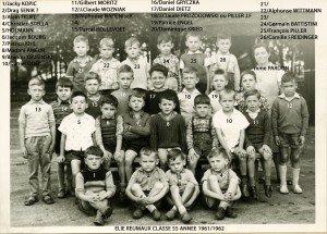 Ecole Primaire Elie Reumaux 1961-1962  062 copie