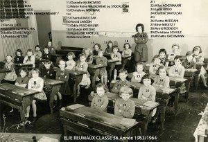 Ecole Primaire Elie Reumaux 1963-1964 065 classe 56 copie