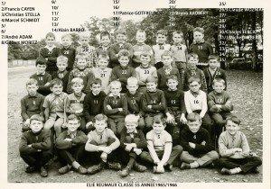 Ecole Primaire Elie Reumaux 1965-1966