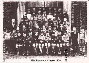 Photo classe garçons Elie Reumaux classe 1928 Julien RIBIC copie