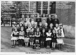 Photo école Huguette 1951-1952 copie