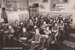 primaire classe 50 année 1959-1960 recadre copie