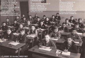 primaire classe 50 année 1960-1961 recadre copie