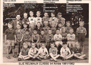 primaire classe 54 année 1961-1962 copie